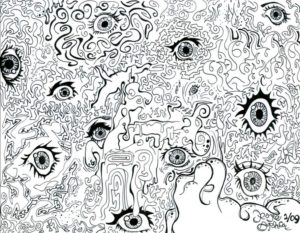 eyes doodling