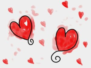 watercolour-hearts