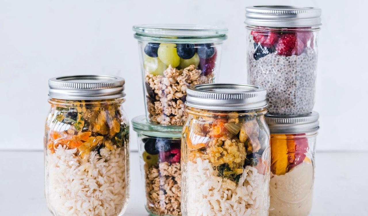 I contenitori di vetro possono essere usati anche per portare il pranzo al lavoro o all'università.